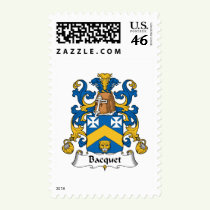 Bacquet Family Crest Stamps