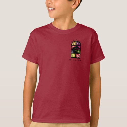 BACS stained glass kids t_shirt