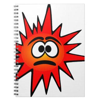 bacteria-156871 bacteria virus sad red CARTOON FUN Notebook