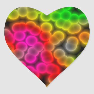 Bacteria abstract background. heart sticker