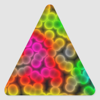 Bacteria abstract background. triangle sticker