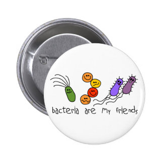 Bacteria are my friends pinback button