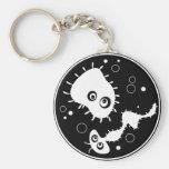 Bacteria Basic Round Button Keychain