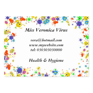Bacteria Border, Large Business Card