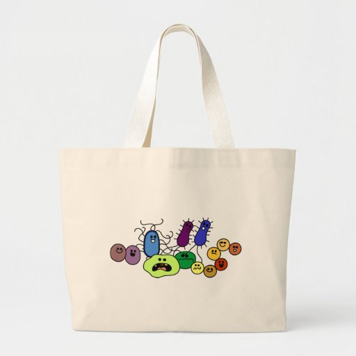 Bacteria Canvas Bags
