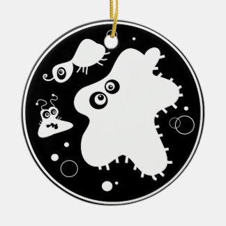 Bacteria Double-Sided Ceramic Round Christmas Ornament