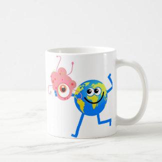 Bacteria Globe Classic White Coffee Mug