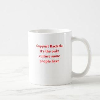 bacteria jke classic white coffee mug