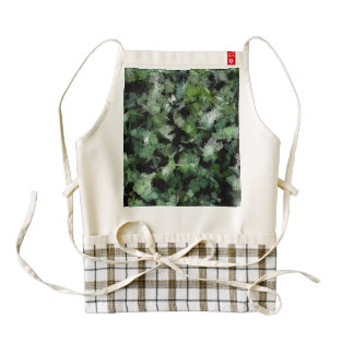 Bacteria patches attacking a plant zazzle HEART apron