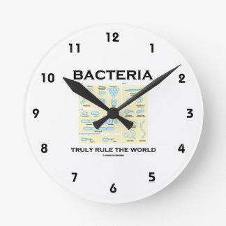 Bacteria Truly Rule The World (Morphology) Round Clocks
