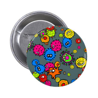 Bacteria Wallpaper 2 Inch Round Button