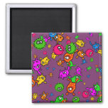Bacteria Wallpaper 2 Inch Square Magnet