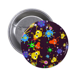Bacteria Wallpaper Pinback Button