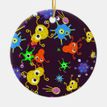 Bacteria Wallpaper Christmas Ornament