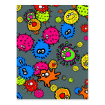 Bacteria Wallpaper Postcard