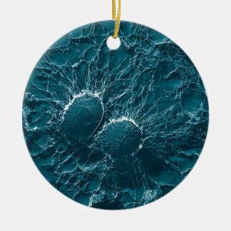 Bacterial cells of Staphylococcus Aureus Close Up Ceramic Ornament