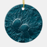 Bacterial cells of Staphylococcus Aureus Close Up Double-Sided Ceramic Round Christmas Ornament