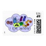 Bacterias del amor timbre postal
