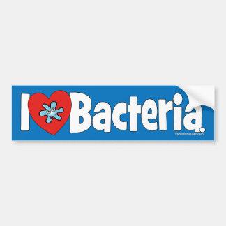 Bacterias del ♥ I Etiqueta De Parachoque