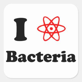 Bacterias Pegatina Cuadrada