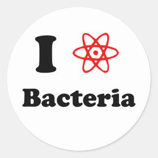 Bacterias Pegatina Redonda