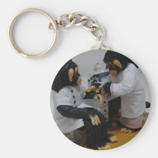 Bacteriologist Basic Round Button Keychain