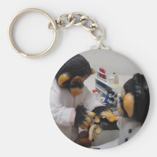 Bacteriologist- Female Basic Round Button Keychain