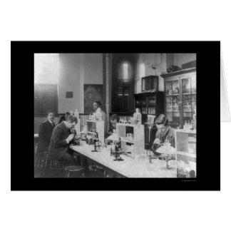 Bacteriology Lab at Howard Univiversity 1900 Card
