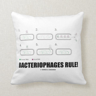 Bacteriophages Rule! (Bacteria Virus DNA) Pillow