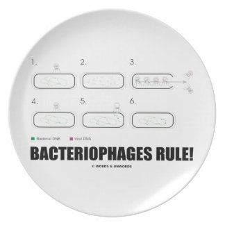 Bacteriophages Rule! (Bacteria Virus DNA) Party Plates