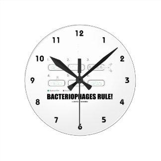 Bacteriophages Rule! (Bacteria Virus DNA) Round Clock