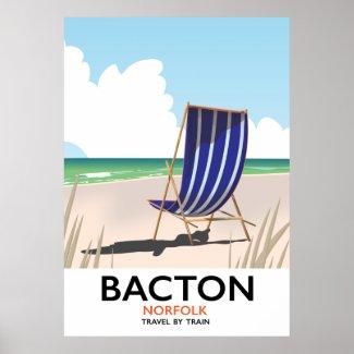 Bacton norfolk beach poster