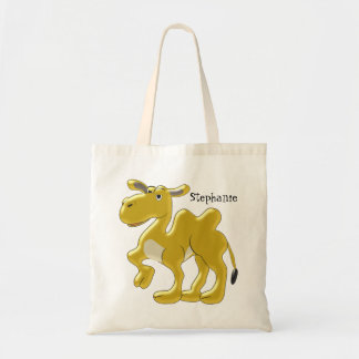 Bactrian Camel Just Add Name Canvas Bags