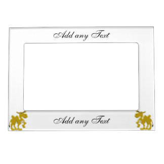 Bactrian Camel Just Add Text Magnetic Photo Frame