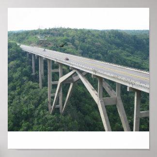 Bacunayagua bridge, Cuba Poster