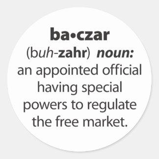Baczar Classic Round Sticker
