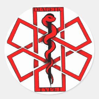 Bad A$$ Diabetic Classic Round Sticker