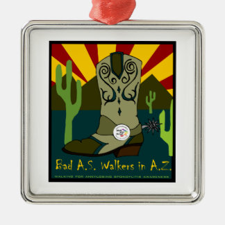 Bad A.S. Walkers In A.Z. Metal Ornament