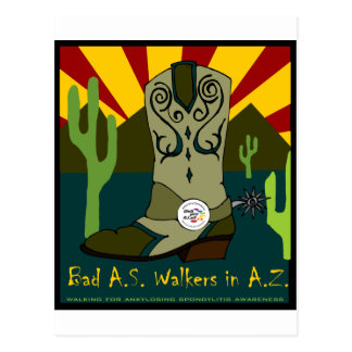 Bad A.S. Walkers In A.Z. Postcard