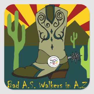 Bad A.S. Walkers In A.Z. Square Sticker