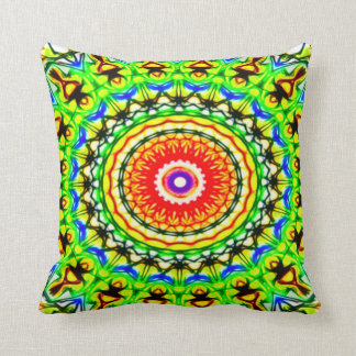 Bad Acid Trip Frog Worship Plush Throw Pillow