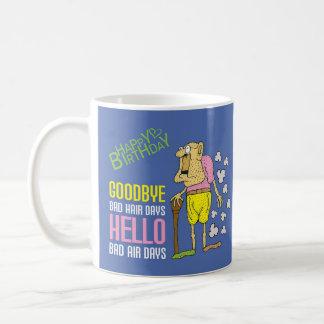 Bad Air Day Purple Birthday Cartoon Coffee Mug