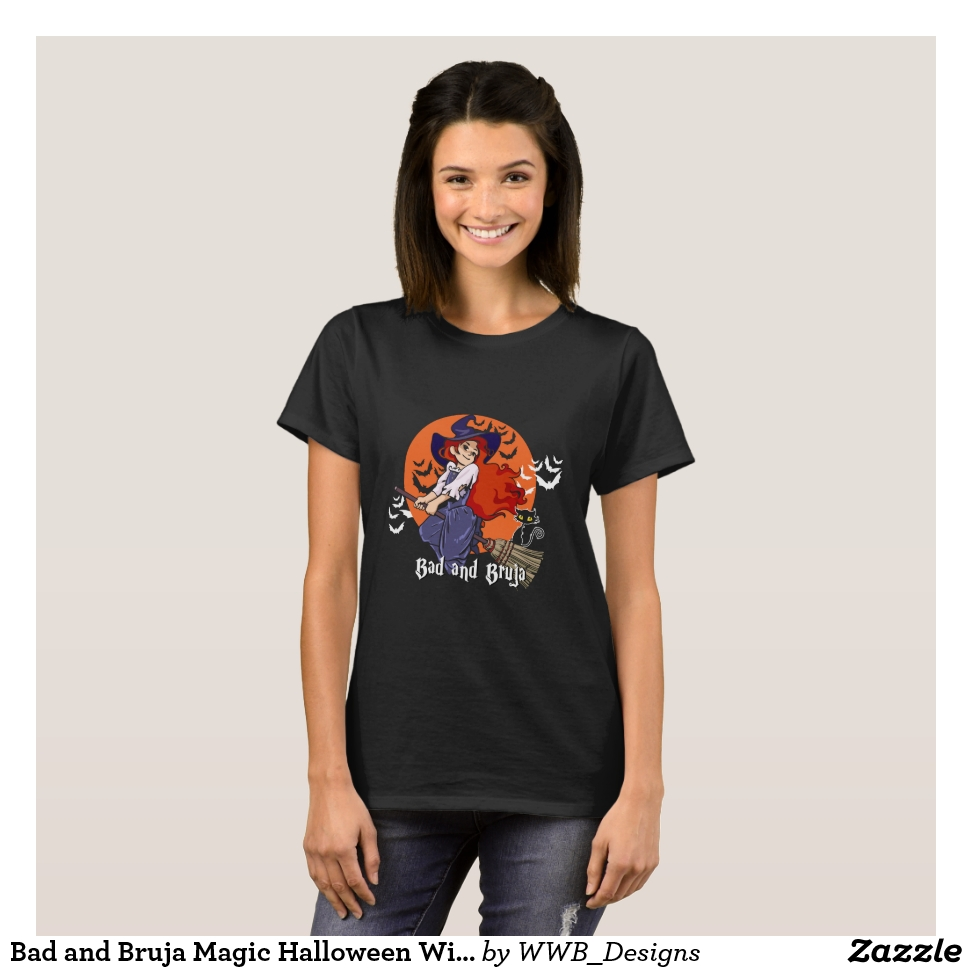 Bad and Bruja Magic Halloween Witchcraft Shirt - Best Selling Long-Sleeve Street Fashion Shirt Designs