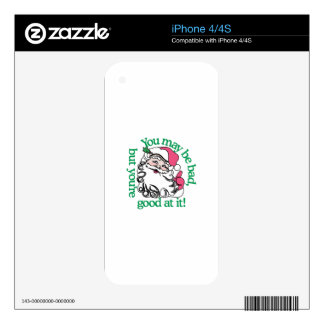 Bad And Good iPhone 4S Skins