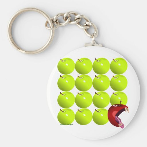 Bad Apple Basic Round Button Keychain