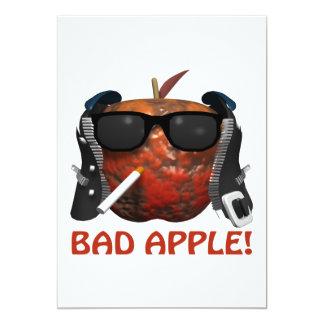 Bad Apple 5x7 Paper Invitation Card