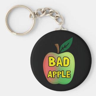 Bad Apple Basic Round Button Keychain