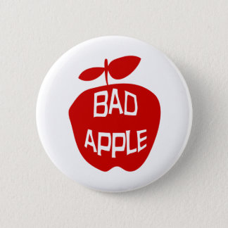 Bad Apple Pinback Button