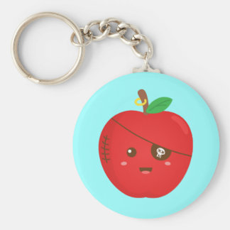 Bad Apples can be cute too Basic Round Button Keychain