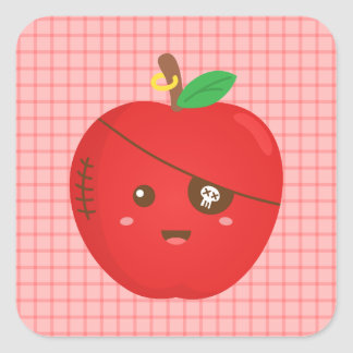 Bad Apples can be cute too Square Sticker